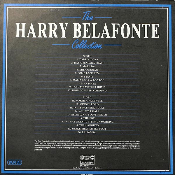 The Banana Boat Song (Day-O) Harry Belafonte